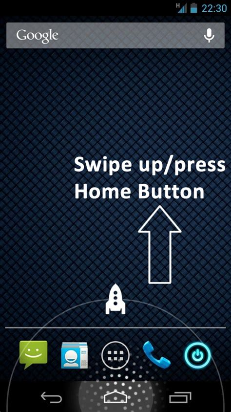 home button swipe up key android apps on play
