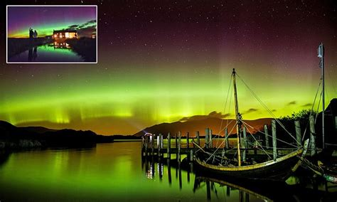 can you see the northern lights in vancouver canada northern lights seen in the night skies above wales and