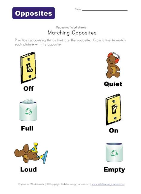 printable opposite games for kindergarten free printables learning and kid on pinterest