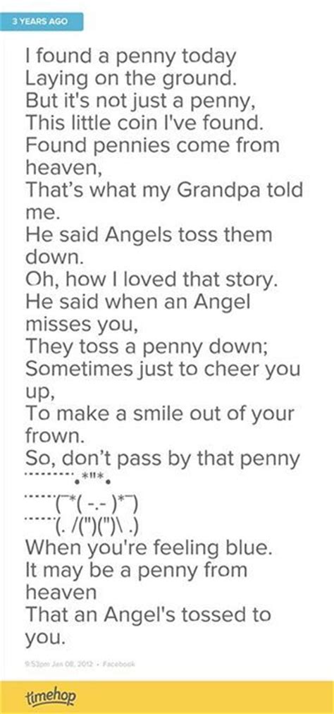 Printable Pennies From Heaven Poem