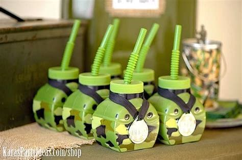Kara's Party Ideas Army Camouflage Themed Birthday Party