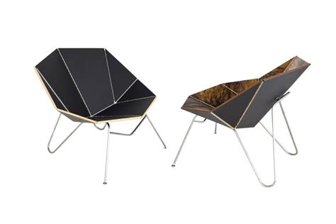 Origami Folding Furniture - cut fold designs chair inspired by papercraft design