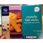 kroger crunchy fish sticks calories nutrition analysis