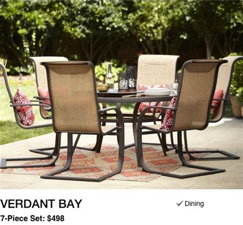 lowes table l set shop patio furniture dining collections at lowe s