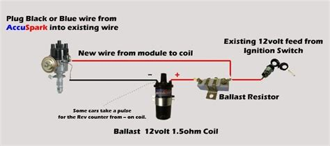 ballast resistor to coil ignition coil ballast resistor wiring diagram within ignition coil ballast resistor wiring