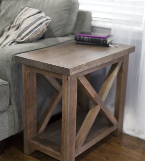 Rustic Twin Bed Side Table Pine Main