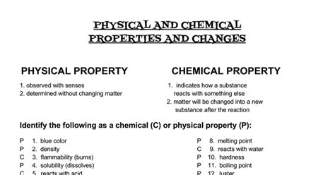 is color a physical or chemical property answers physical chemical properties change docs