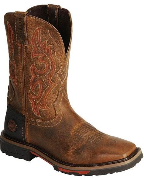 justin boots square toe justin hybred work boots square toe sheplers