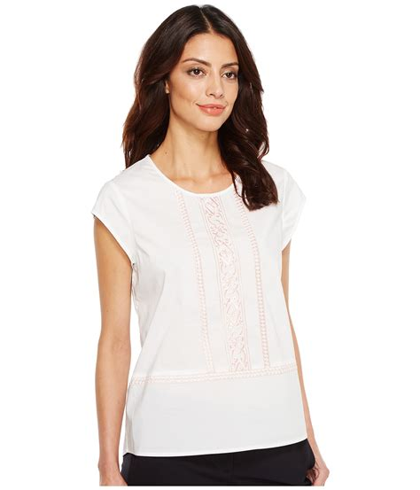 Ivanka Blouse ivanka cotton blend woven embroidered blouse at