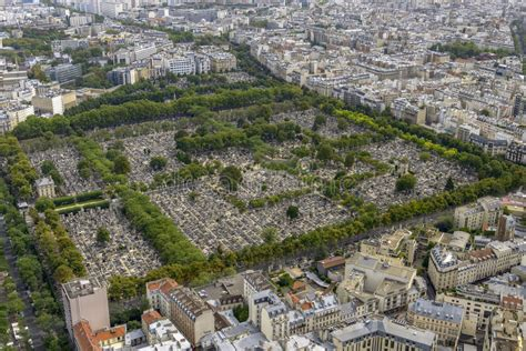 De Montparnasse Its Time by Aerial View Of Pere Lachaise Cemetery Taken From