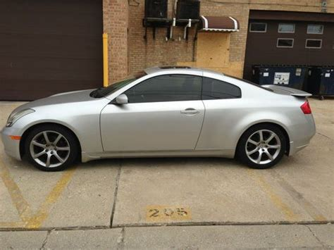 infiniti g35 silver sell used 2004 infiniti g35 coupe silver excellent