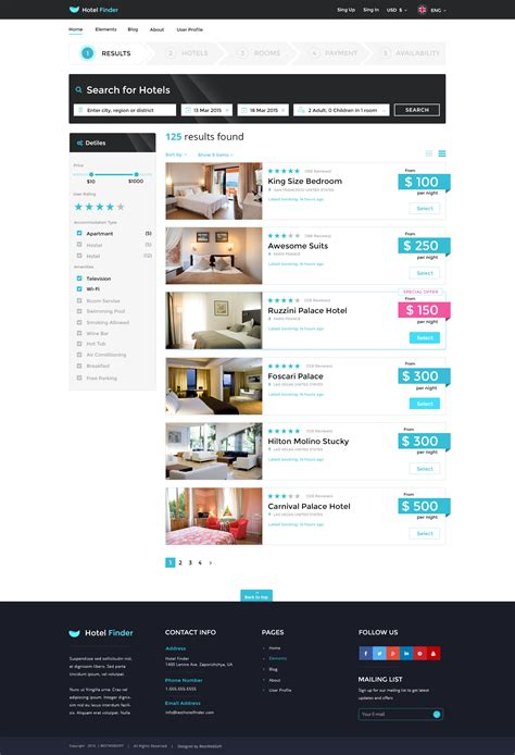 search page template hotel finder booking html website template by