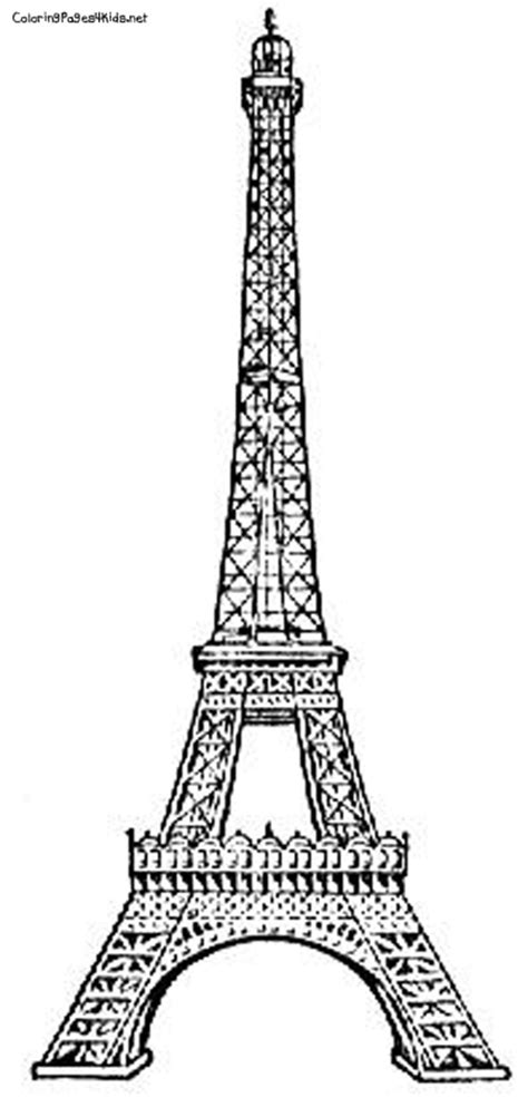 france eiffel tower coloring page best photos of eiffel tower outline paris eiffel tower