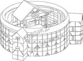 The Globe Theatre Outline by Lesson Zone Au Globe Theatre B W