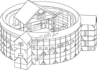 The Globe Theatre Outline by Free Coloring Pages