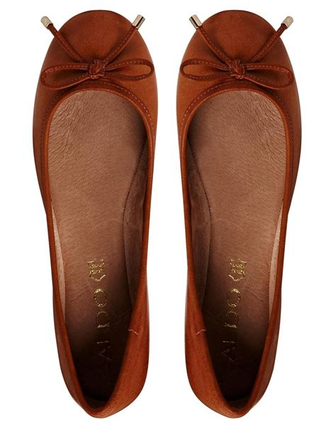 flat brown shoes aldo koten leather flat shoes in brown lyst