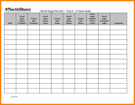 Blood Sugar Spreadsheet by Blood Sugar Log Sheet Commonpence Co