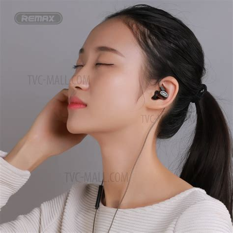 Remax Earphone Rm 580 Hitam remax rm 580 in ear 3 5mm dual moving coil earphone