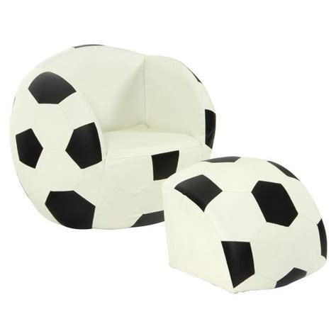 Soccer Furniture by Soccer Lounge Footrest Chair Childrens Seat