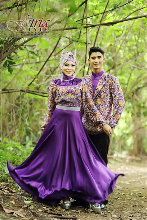 Batik Gamis Longcardi Pandawa drupadi by fitria style purple baju muslim gamis modern
