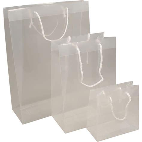 tas pp luxueuze tas met koord 16x8x16cm draagtas transparant 293440 neutraal