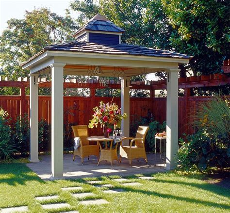 backyard pavilions simple hip roof pavilion with small cupola backyard