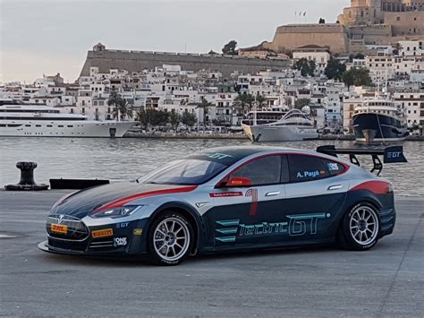 Tesla Racing Car Electric Gt Reveals Race Ready Tesla Model S