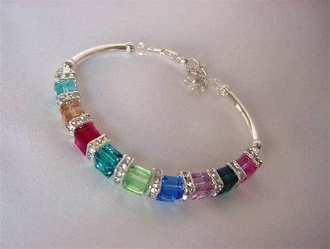 Handmade Swarovski Bracelets - birthstone bracelet handmade swarovski cube