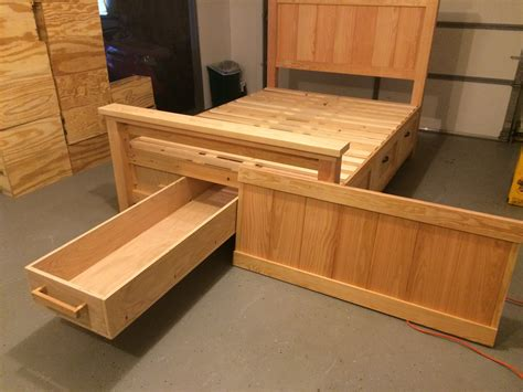 farmhouse storage bed ana white farmhouse storage bed with hidden drawer diy
