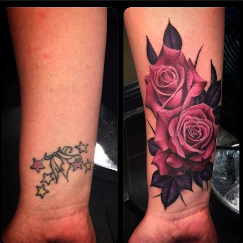 rose tattoo cover ups cover up tattoos best ideas gallery
