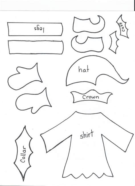 printable elf on the shelf clothes elf body template new calendar template site