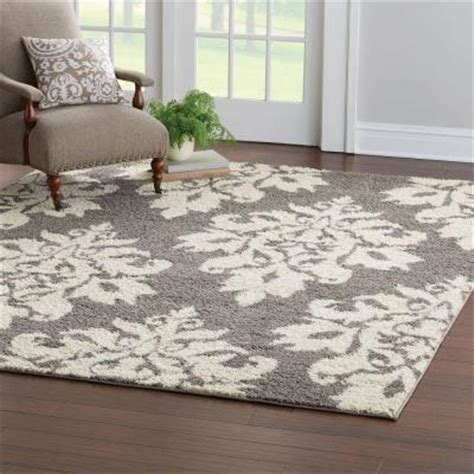 Home Depot East Meadow by Home Decorators Collection Meadow Damask Gray 7 Ft 10 In