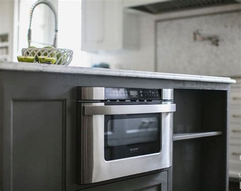 kitchen island with microwave drawer 1000 ideas about microwave drawer on kitchen