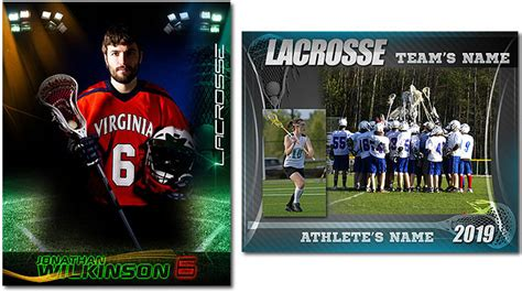 lacrosse roster card template lacrosse essentials 19 99 arc4studio photoshop