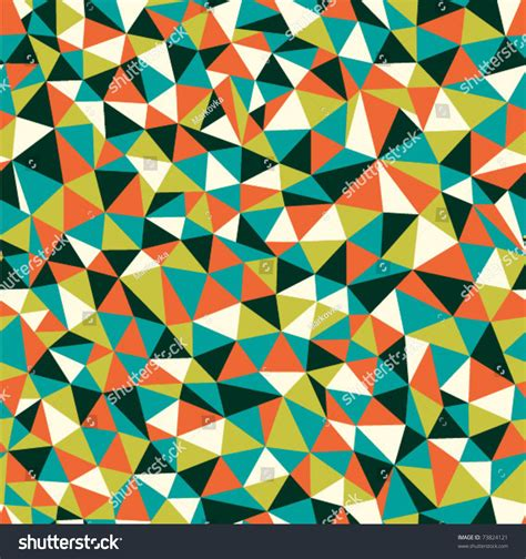 mosaic pattern congruent triangles seamless texture triangles mosaic endless pattern stock