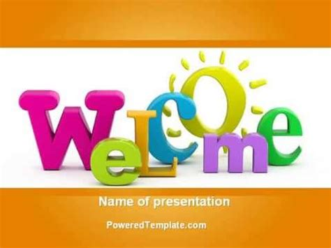 welcome page templates welcome powerpoint template by poweredtemplate