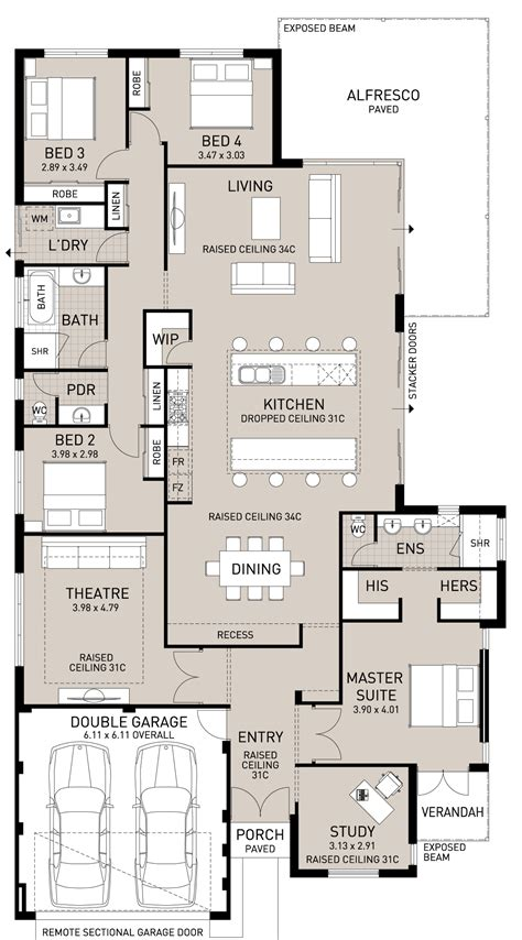 home plans with large kitchens floor plan friday island benches