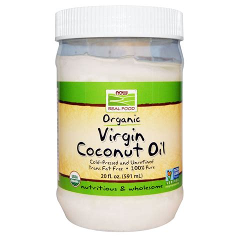 coconut oil americas best source for buying coconut oil virgin coconut oil certified organic 12 oz now real