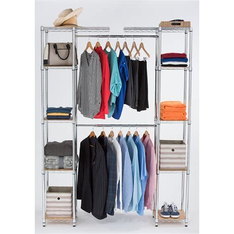 Chrome Closet Organizer by Ecostorage Expandable Closet Organizer 56 78 W