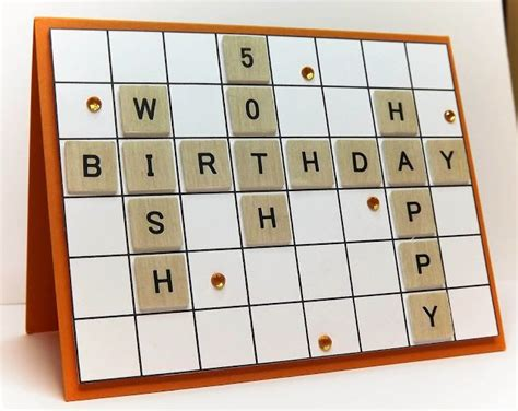 scrabble card scrabble handmade birthday cards and birthday cards on