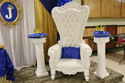 royal blue and gold baby shower chair royal baby shower baby shower ideas royal prince