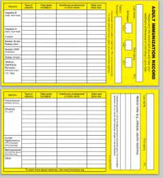 immunization record template immunization card printable printable cards