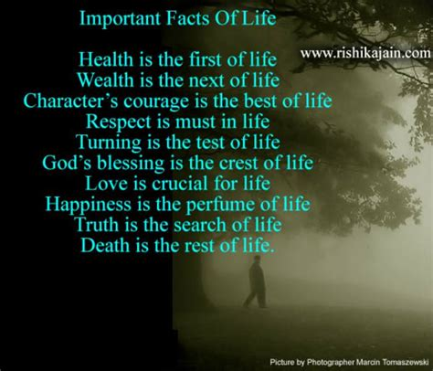 important facts of life life quote inspirational quotes
