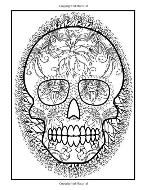 Pdf Dia Los Muertos Coloring Grown Ups coloring books for grown ups dia de los