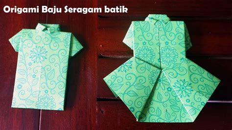 Youtube Membuat Origami Baju | membuat origami baju perempuan dan kemeja lelaki youtube
