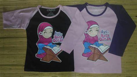 Kaos Anak Branded Muslim The Next Hafizhah Qur An At 35 Size Xs S kaos anak muslim zahra ayo baca qur an grosir baju anak branded baju anak muslim baju kaos