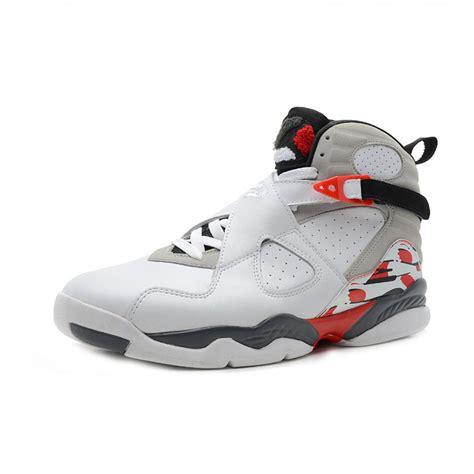 cheap jordans shoes air 8 original high white black grey cheap