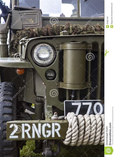 ww2 jeep front vintage wwii american jeep stock image image of speedy