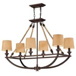 Nautical Chandeliers Boathouse Nautical Rope Chandelier With Shade Shades