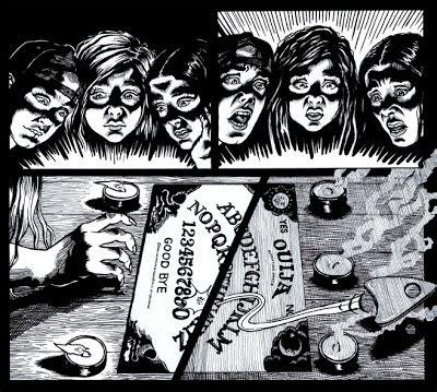 Kaos Ouija gotik komik romantik halloweentema pt ii att f 246 rleda